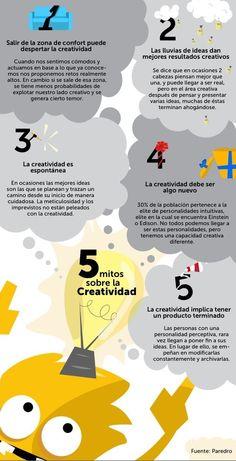 #Infografía 5 mitos sobre la #creatividad