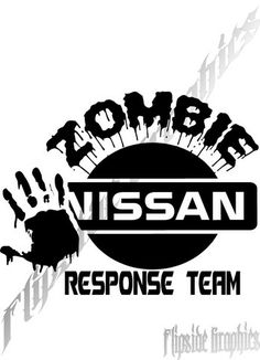 Custom Zombie Response Decal Nissan Trucks Cars Windows Bumper Sticker – likeabossgraphix