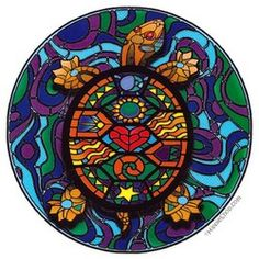 stain glass turtle