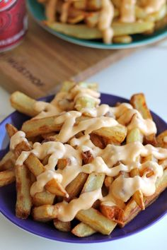 Garlic Cheese Fries - Damn Delicious. Omg, the most amazing! #Fries