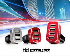 The tizi Turbolader lineup (from left): tizi Turbolader 3x, tizi Turbolader 3x MEGA, tizi Turbolader 4x MEGA