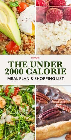 What's the best way to lose weight? Keep your calories low! This 7-day 2000 calorie meal plan and shopping list will set you up for success. Download your FREE shopping list today!