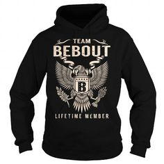 Awesome Tee Team BEBOUT Lifetime Member - Last Name, Surname T-Shirt T shirts