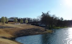 The beautiful lake at Myers Park in McKinney TX.