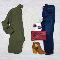 Keeping It \Chic\ Shop Profession Looks and More Online! www.shopelysian.com New! Elle Crossbody Bag $36. In Store Only. New! Keep It Chic Blazer in Olive $42. online  in-store. New! Midnight Adriana Super Skinny Jean $118. in-store only. New! Chattsworth Pocket Tee $32. Online  In-Store. @quayaustralia Electric Dreams Sunnies in Black $46. In store only. Suede Peep Toe Sandal in Chestnut $46 online  in-store.  #WearElysianDaily http://ift.tt/2dYA8iV Keeping It \Chic\ Shop Profession Looks…