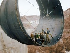 The Hoover Dam under construction, c.1935 (colorized)