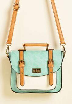 Buckle Into Boldness Bag. By flaunting this mint satchel anywhere you please, you strap yourself in for a wild sartorial ride! #mint #modcloth