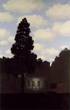 """""""Empire of Light"""" by Rene Magritte, one of the my favorite painting all time."""