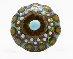 DREAMING  handmade lampwork glass cabochon topper by beadchatter