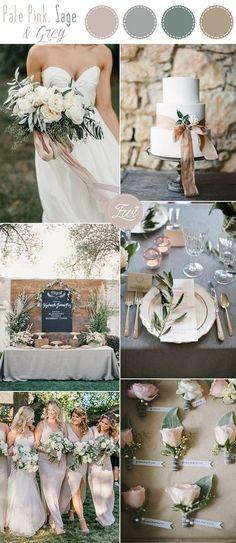 pale pink and grey simple garden wedding inspiration #weddingdecoration