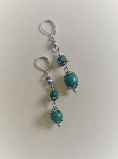 Malachite Earrings , gemstone earrings , silver plated.natural stone jewelry, gift for her by angel4eva on Etsy