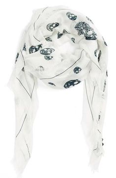 Alexander McQueen scarf- perfect lightweight scarf for transitioning from summer to fall