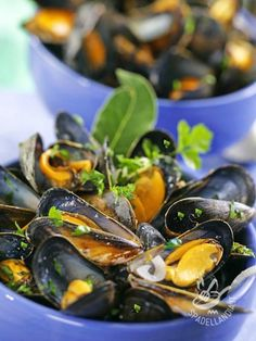 Recipe mussels and suggestions for more healthy meals and a more healthy life Finger Food Appetizers, Finger Foods, Appetizer Recipes, Chef Recipes, Italian Recipes, Healthy Recipes, Healthy Meals, Fish Dishes, Pasta