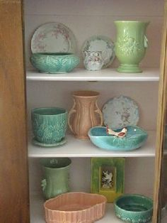 Decorating with vintage pottery