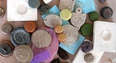Artisan Whimsy- making stamps & moulds Polymer Beads, Polymer Clay, Diy Jewelry, Jewelry Box, Make Your Own Stamp, Crea Fimo, Ceramic Tools, Clay Stamps, Pottery Tools
