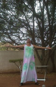this is enjoying life wearing my soft bamboo jersey maxi dress Men Wearing Dresses, Dress Skirt, Dress Up, Enjoying Life, Types Of Fashion Styles, Bamboo, Tie Dye, Skirts, How To Wear