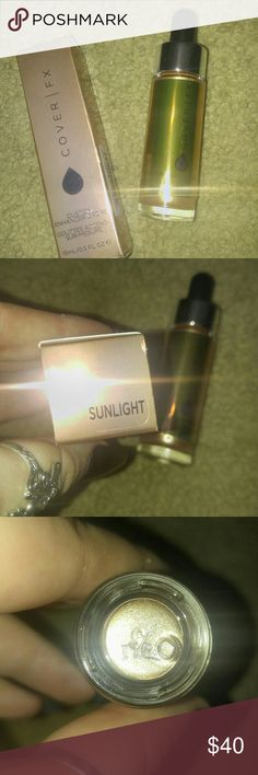 Cover FX Liquid Highlighter Sunlight Never used never swatched Sephora Makeup Luminizer