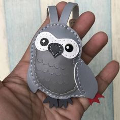 measures: 7 cm X 6.5 cm handcut,hand stitched,handmade This lovely parrot charm is designed and handmade by us, it is our friend pet name This is as picture shown, No custom request or change color , items as listing shown, thank you :) This listing is for one small size parrot