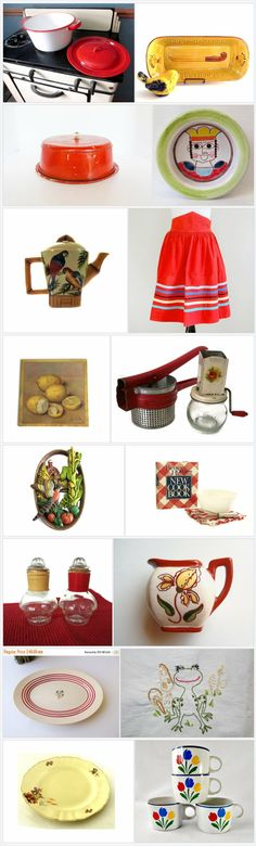 Vintage Kitchen Finds  by Betty J. Powell on Etsy https://www.etsy.com/treasury/MjA2OTE2MTl8MjcyODQ3NDM5Ng/vintage-kitchen-finds