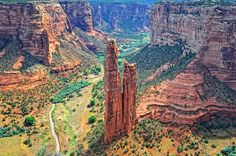 Spider Rock Arizona Desert
