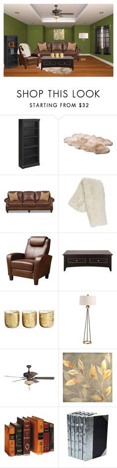 """Cozy livingroom"" by daniellemtartaglione ❤ liked on Polyvore featuring interior, interiors, interior design, home, home decor, interior decorating, Bush Furniture, UGG Australia, Pier 1 Imports and Abbyson Living"