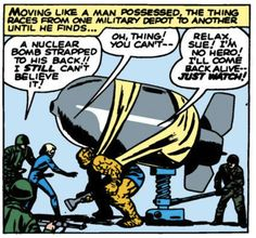 This ... does not seem like a good plan. Fantastic Four by Jack Kirby and Stan Lee.