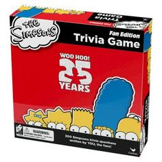 The Simpsons Trivia Game 25 anniversary