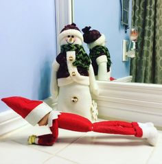 While some elves are busy eating chocolate Advent calendars, baking batches of sugar cookies, and spelling out words with candy, even elves need to take a Chocolate Advent Calendar, Holiday Fun, Holiday Decor, Buddy The Elf, Workout Humor, Tis The Season, Winter Holidays, Elf On The Shelf, Shelves