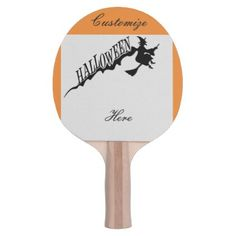 Scary Witch Riding Broom Halloween Thunder_Cove Ping Pong Paddle - Halloween happyhalloween festival party holiday