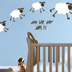 Happy Sheepies   Nursery Wall Decals   WallsNeedLove