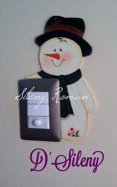 Adorno de Muñeco de Nieve para apagador