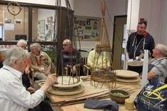 It is Potting and Planting week at our Llandudno centre and veteran John Dix has been demonstrating his new skills in working with willow and sharing with the rest of the group how he makes planters for the gardens. Arts And Crafts Projects, Planting, Centre, Table Settings, Rest, Gardens, Group, Plants, Outdoor Gardens