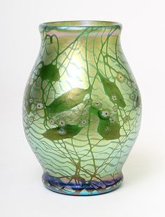 d97db3ffc4e Another of the four fantastic Tiffany Favrile vases from a private collection  Tiffany Stained Glass