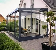Pergola Attached To House Roof Extension Veranda, Glass Extension, Outdoor Rooms, Outdoor Gardens, Outdoor Living, Garden Design, House Design, Glass Room, Marquise