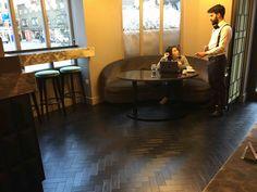 Karndean Black Oak Parquet Luxury Vinyl Flooring, Luxury Vinyl Tile, Jazz Bar, Bar Interior, Vinyl Tiles, Commercial Interiors, New Homes, Design Ideas, Study