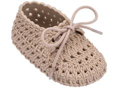 Crochet Baby Shoes Mini Melissa Melissa Shoes My First Mini Tricot Flat - Crochet Baby Sandals, Knit Baby Booties, Booties Crochet, Crochet Baby Clothes, Newborn Crochet, Crochet Shoes, Crochet Boots Pattern, Baby Shoes Pattern, Baby Slippers