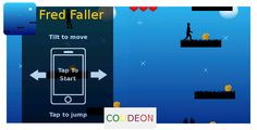 Fred Faller - iPhone game, Cocos2d . Tilt your device to move Fred. Collect as much coins as you can, to get the highest score and avoid lava and
