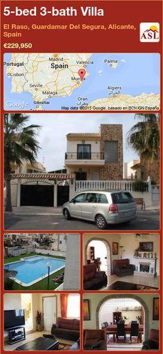 Villa for Sale in Guardamar, Alicante (Costa Blanca), Spain with 5 bedrooms, 3 bathrooms - A Spanish Life Casablanca, Valencia, Portugal, Alicante Spain, Family Bathroom, Double Bedroom, Pool Table, Lounge Areas, Terrace