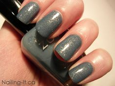 Zoya Skylar swatch and review. Dusty blue creme with gold microshimmer
