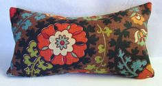 One Richloom Suzani Lumbar pillow cover in browns by LivePlush, $23.00