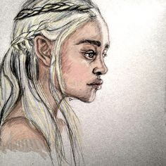 Daenerys from Game of Thrones // pencil + digital // my art.