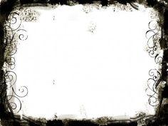 Black White Swirls Frame PPT Backgrounds
