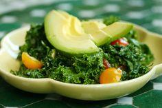 Kale Salad with Lemon Avocado Dressing