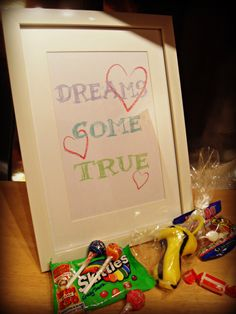 Home Decor and Gifts - Designed By Vikki Anne Framed Wall Art Picture - Dreams Come True - Sketchy