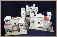 Construcciones realizadas por encargo para el belén municipal de Granátula de Cva. (Ciudad Real). Se trata de 4 módulos de casas para situar...