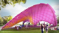 John Wardle Architects' I Dips Me Lid will saturate visitors with colour.