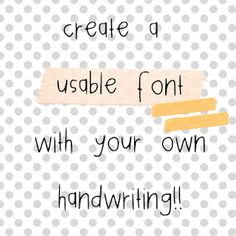 Free handwriting font generator - just download the template, use a medium black felt pin to write out the alphabet, scan it, and they generate YOUR font.  I gotta try this.