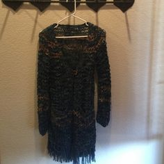 Lucky Sweater Loose knit beautiful Lucky cardigan; looks fabulous with skinny jeans and/or leggings! Lucky Brand Sweaters Cardigans