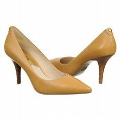Women's MICHAEL MICHAEL KORS MK Flex Mid Pump Tan Leather Shoes.com