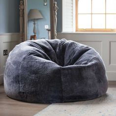 A giant silver-grey sheepskin beanbag. This gorgeous super soft sheepskin bean bag is hardwearing & big enough for two. Giant Bean Bag Chair, Giant Bean Bags, Dorm Room Chairs, Huge Bean Bag, Chill Bag, Silver Room, Bubble Chair, Chill Room, Flats